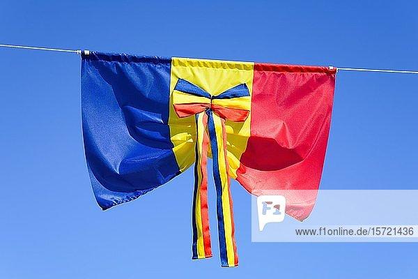 Rumänische Flagge als Schleife  Rumänien  Europa