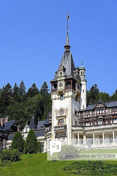 Schloss Peles  Sinaia  Siebenbürgen  Rumänien  Europa