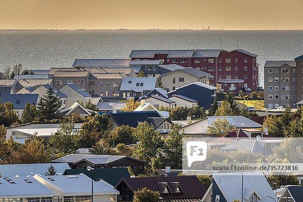 Hafnarfjordur,  Residential neigborhoods,  suburbs,  Reykjavik,  Iceland.