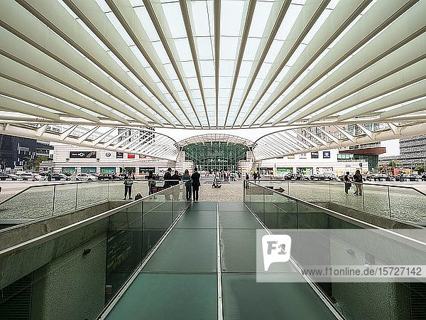 Bahnhof Gare do Oriente  Architekt Santiago Calatrava  Lissabon  Portugal  Europa