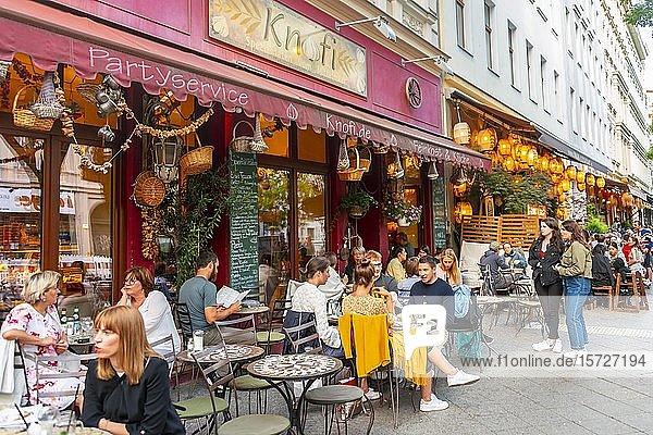 Beliebtes Restaurant  Berlin  Bergmannstraße  Deutschland  Europa