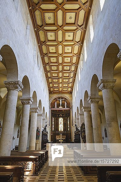 Innenansicht  Schottenkirche St. Jakob  Regensburg  Oberpfalz  Bayern  Deutschland  Europa