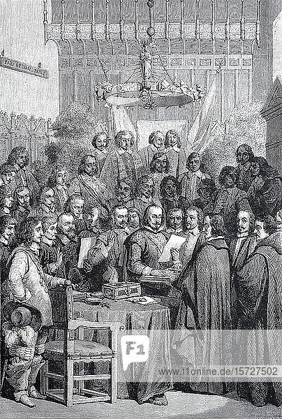 Die Eidesleistung der Ratifizierung des Vertrags von Münster 1648  Deutschland  Europa