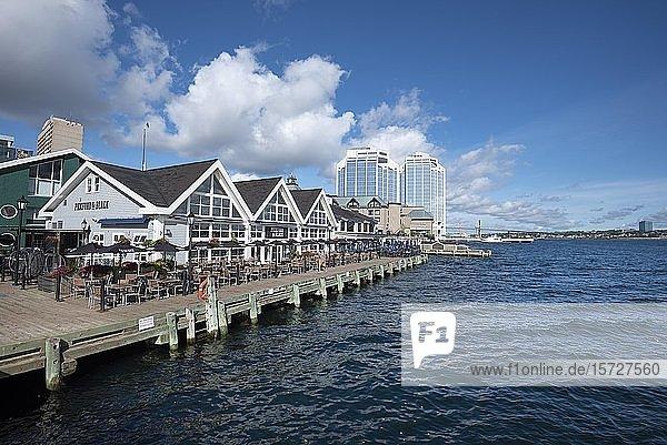 Uferpromenade  Halifax  Nova Scotia  Kanada  Nordamerika