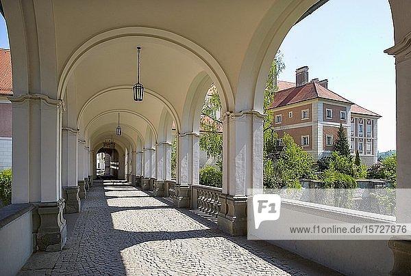 Arkadenbrücke  Schloss Lamberg  Steyr  Oberösterreich  Österreich  Europa