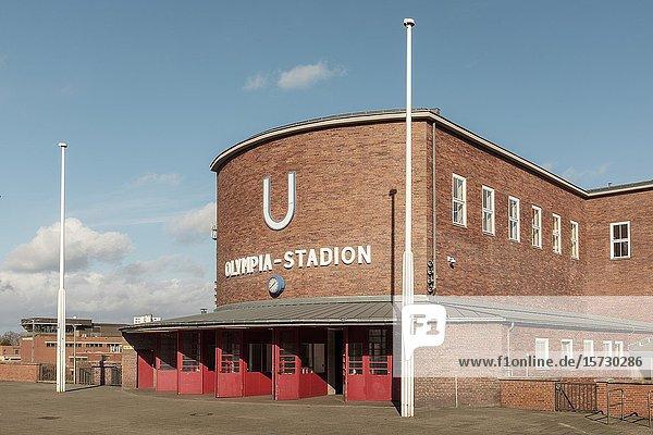 Olympia-Stadion Underground Station  Berlin Germany.