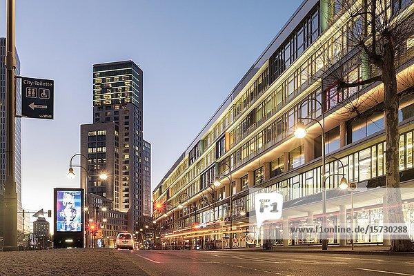 Bikini Berlin shopping mall and Waldorf Astoria upmarket hotel in Berlin  Germany.