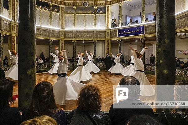 Istanbul  Turkey A show of the Whirling Dervishes.