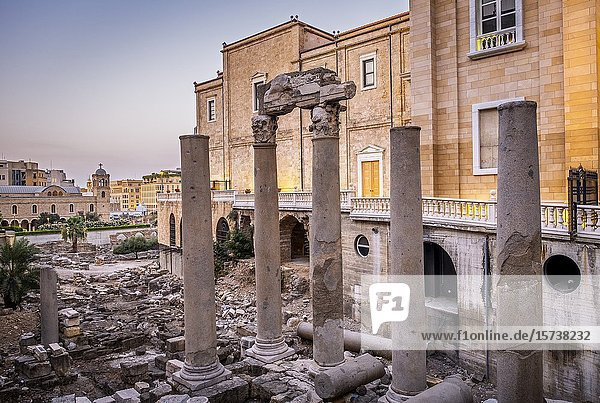 Roman Cardo Maximus  in Roman Forum  Downtown  Beirut  Lebanon.