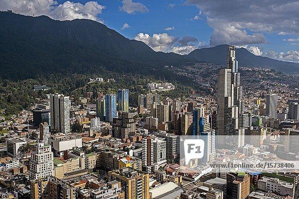 Skyline  downtown  Bogota  Colombia.