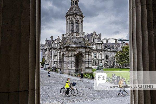 Parliament Square  in Trinity College  Dublin  Ireland.