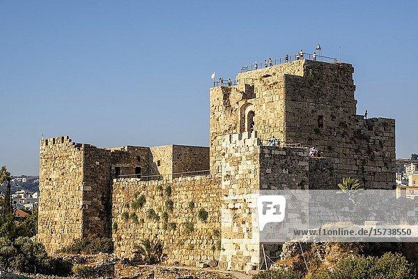 Crusader castle  Archaeological site  Byblos  Lebanon.
