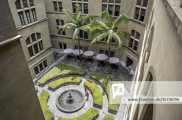 Courtyard of Palacio de la cultura  Rafael Uribe Uribe  Palace of Culture  Medellín  Colombia.