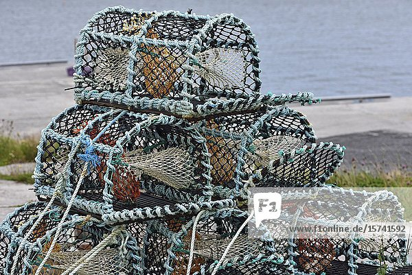Crab and lobster traps  Inishmore  the largest of the Aran Islands  Galway Bay  West Coast  Republic of Ireland  North-western Europe.