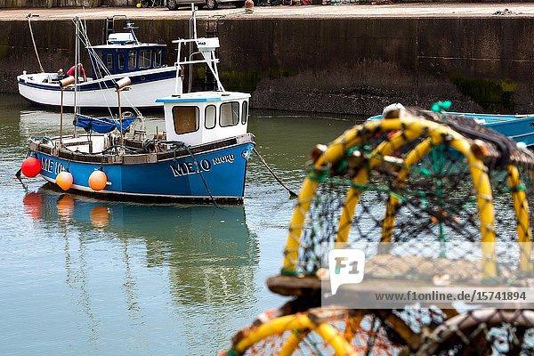 Johnshaven coastal fishing village N. E. Scotland UK.