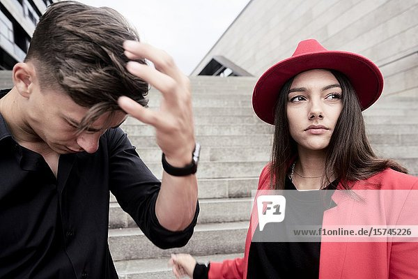 Young couple  Munich  Germany.