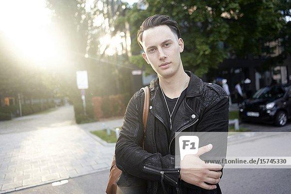 Portrait of man. Munich  Germany.