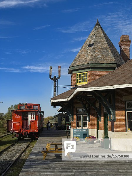 Railway museum at Canadian Northern train station  Smith's Falls  Ontario  Canada.
