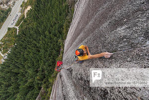 Trad climbing  Stawamus Chief  Sea to Sky-Korridor  Squamish  Britisch-Kolumbien  Kanada