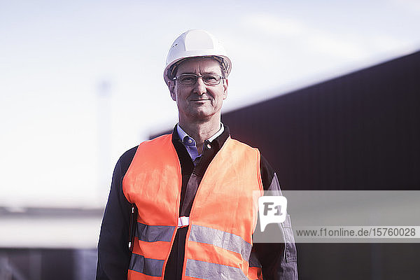 Portrait of engineer at port