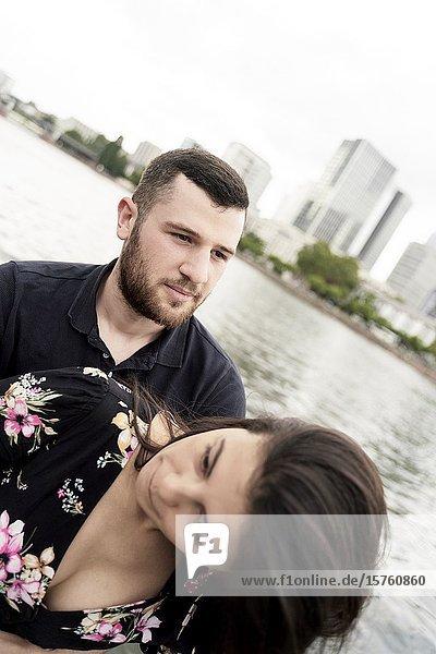 Young couple. Frankfurt am Main  Germany.