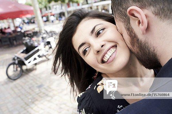 Young couple in loving attitude. Frankfurt am Main  Germany.