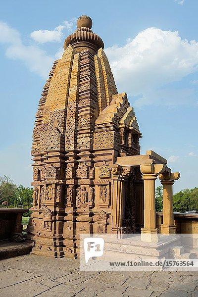Lakshmana Temple  Khajuraho Group of Monuments  Madhya Pradesh state  India.