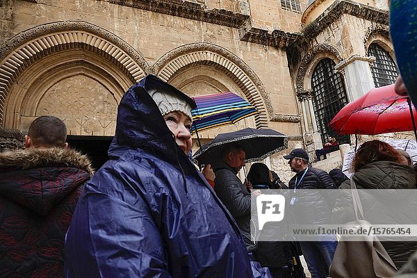 Jerusalem  Israel Worshippers at the Church of the Holy Sepulchre.