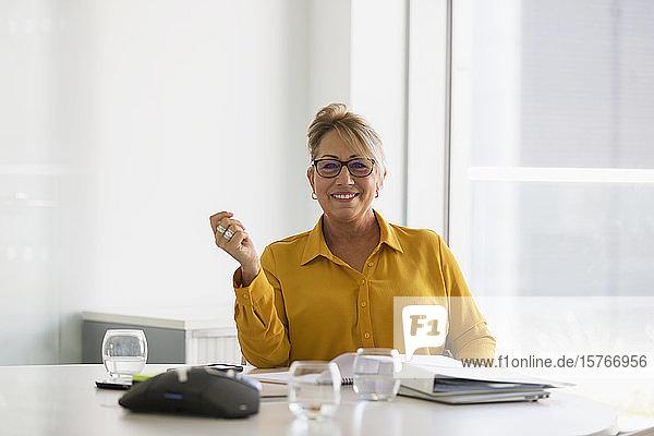 Portrait confident  smiling businesswoman