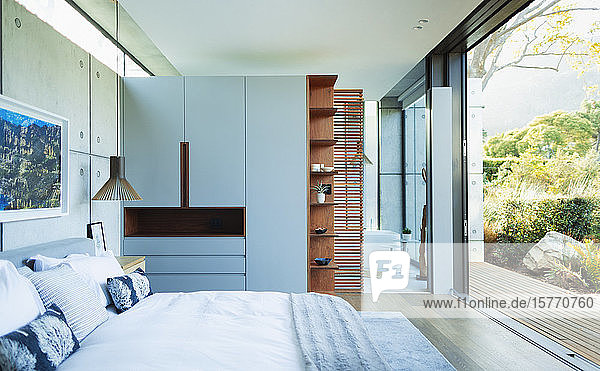 Modern  luxury home showcase bedroom