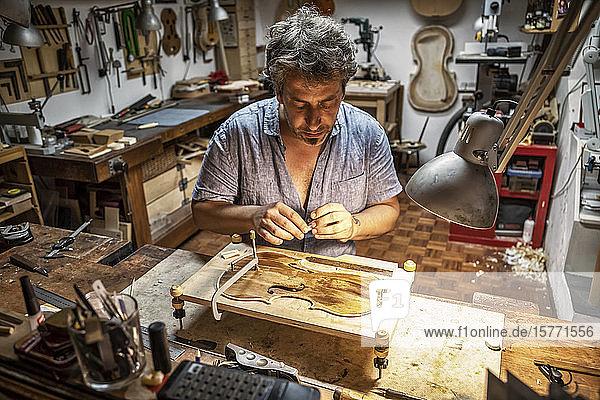 Violin craftsman; Venice  Italy