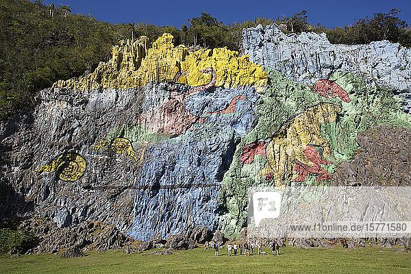 Mural of Prehistory  Vinales Valley; Cuba