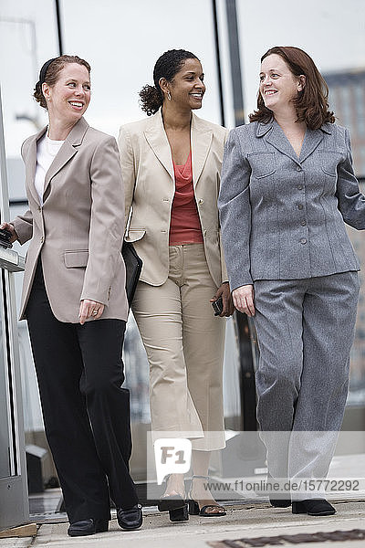 View of business women smiling.