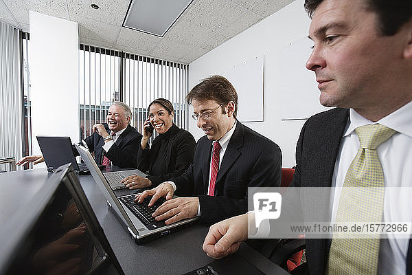Business colleagues working in an office.