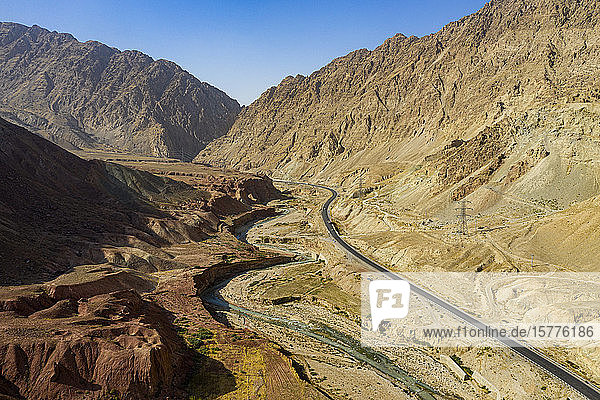 Aerial of the Samangan Valley  Afghanistan  Asia
