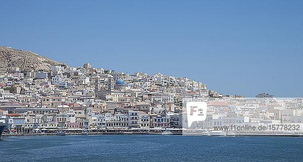 City skyline in Mykonos  Greece