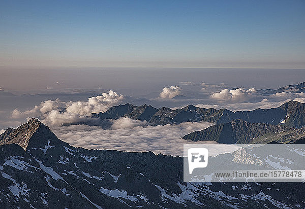 Mountains in cloud in Italian Alps  Italy