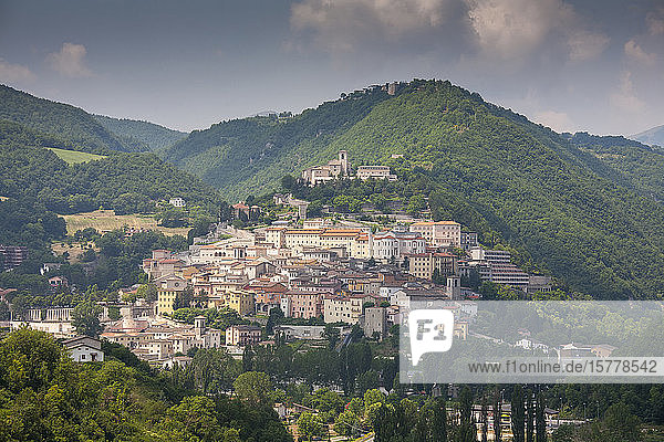 Cityscape by mountain in Cascia  Italy
