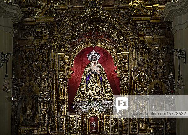 Altarpiece inside Chapel of the Sailors in Seville  Spain