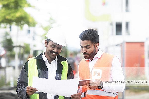Engineers working on site