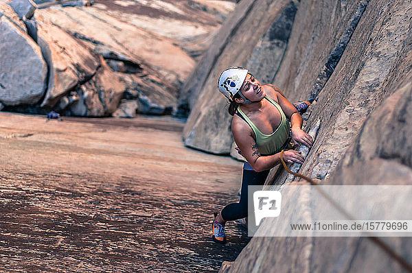 Felsklettern  Red Rock  Las Vegas  Nevada  Vereinigte Staaten