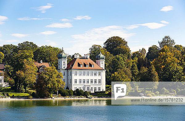 Deutschland  Bayern  Oberbayern  Starnberger See und Schloss Ammerland