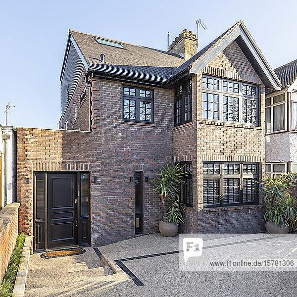 Außenansicht eines luxuriösen Anwesens  London  UK