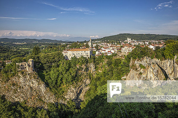 Stadtbild von Pazin  Istrien  Kroatien