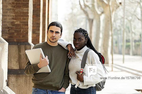 Portrait of a confident couple outdoors