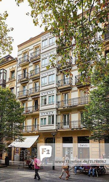 Apartment building  Boulevard  Donostia  San Sebastian  Gipuzkoa  Basque Country  Spain  Europe