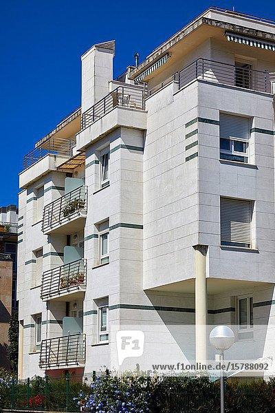 Apartment building  Irun  Gipuzkoa  Basque Country  Spain  Europe