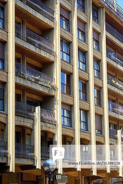 Apartment building  Txofre Square  Donostia  San Sebastian  Gipuzkoa  Basque Country  Spain  Europe