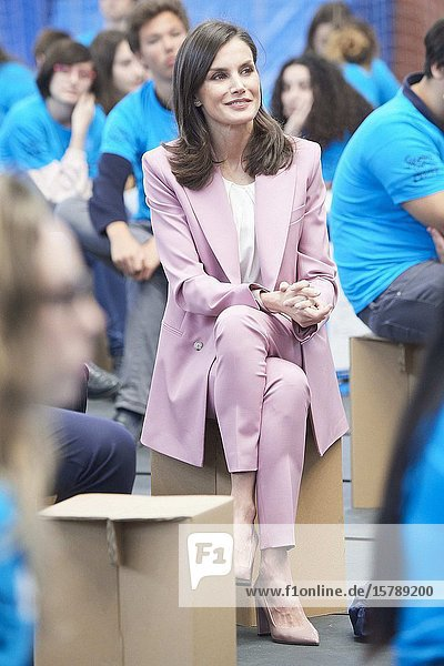 Queen Letizia of Spain attends the proclamation of the winner of the 'Princess of Girona 2020 Foundation Award' in the category of 'Scientific Research' at Polytechnic University of Valencia on February 12  2020 in Valencia  Spain