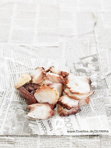 Pulpo cocido / cooked octopus